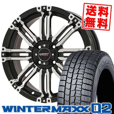 165/60R15 77Q DUNLOP ダンロップ WINTER MAXX 02 WM02 ウインターマックス 02 B-MUD X Bマッド エックス スタッドレスタイヤホイール4本セット