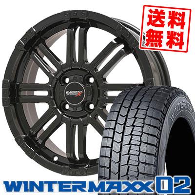 165/55R14 72Q DUNLOP ダンロップ WINTER MAXX 02 WM02 ウインターマックス 02 B-MUD X Bマッド エックス スタッドレスタイヤホイール4本セット