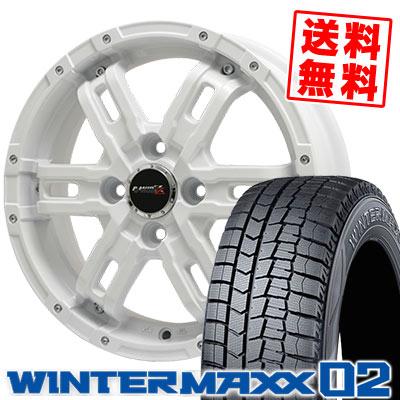 165/60R14 75Q DUNLOP ダンロップ WINTER MAXX 02 WM02 ウインターマックス 02 B-MUD Z Bマッド ゼット スタッドレスタイヤホイール4本セット