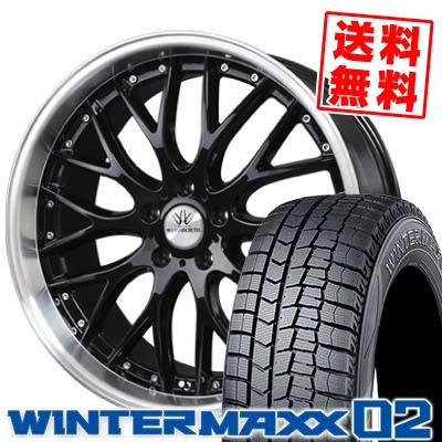 235/45R18 DUNLOP ダンロップ WINTER MAXX 02 WM02 ウインターマックス 02 BADX LOXARNY MULTIFORCHETTA バドックス ロクサーニ マルチフォルケッタ スタッドレスタイヤホイール4本セット
