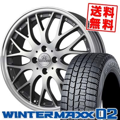 165/60R15 DUNLOP ダンロップ WINTER MAXX 02 WM02 ウインターマックス 02 BADX LOXARNY MULTIFORCHETTA バドックス ロクサーニ マルチフォルケッタ スタッドレスタイヤホイール4本セット