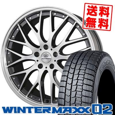 225/55R18 DUNLOP ダンロップ WINTER MAXX 02 WM02 ウインターマックス 02 BADX LOXARNY MULTIFORCHETTA バドックス ロクサーニ マルチフォルケッタ スタッドレスタイヤホイール4本セット