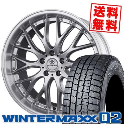245/45R19 DUNLOP ダンロップ WINTER MAXX 02 WM02 ウインターマックス 02 BADX LOXARNY MULTIFORCHETTA バドックス ロクサーニ マルチフォルケッタ スタッドレスタイヤホイール4本セット