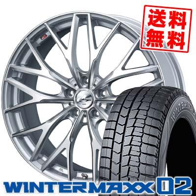 225/55R18 DUNLOP ダンロップ WINTER MAXX 02 WM02 ウインターマックス 02 weds LEONIS MX ウェッズ レオニス MX スタッドレスタイヤホイール4本セット