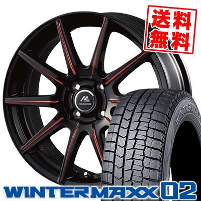 155/65R14 DUNLOP ダンロップ WINTER MAXX 02 WM02 ウインターマックス 02 MILANO SPEED X10 ミラノスピード X10 スタッドレスタイヤホイール4本セット