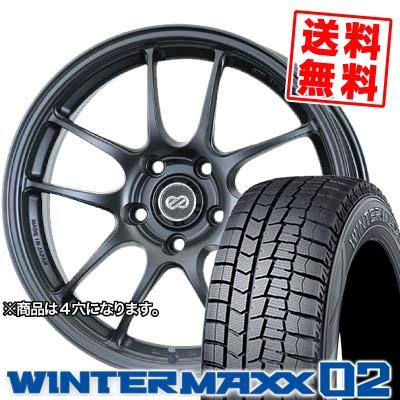 165/50R16 DUNLOP ダンロップ WINTER MAXX 02 WM02 ウインターマックス 02 ENKEI PerformanceLine PF-01 エンケイ パフォーマンスライン PF01 スタッドレスタイヤホイール4本セット