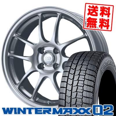 195/50R16 DUNLOP ダンロップ WINTER MAXX 02 WM02 ウインターマックス 02 ENKEI PerformanceLine PF-01 エンケイ パフォーマンスライン PF01 スタッドレスタイヤホイール4本セット