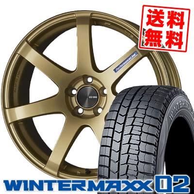 225/45R19 DUNLOP ダンロップ WINTER MAXX 02 WM02 ウインターマックス 02 ENKEI PerformanceLine PF-07 エンケイ パフォーマンスライン PF07 スタッドレスタイヤホイール4本セット