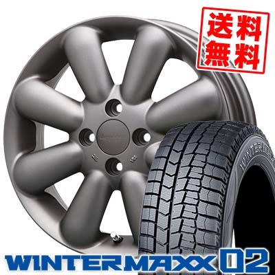 155/65R14 DUNLOP ダンロップ WINTER MAXX 02 WM02 ウインターマックス 02 HYPERION PINO+(Plus) ハイペリオン ピノ+(プラス) スタッドレスタイヤホイール4本セット