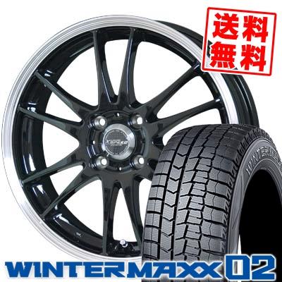 155/70R13 DUNLOP ダンロップ WINTER MAXX 02 WM02 ウインターマックス 02 CROSS SPEED PREMIUM 6 Light クロススピード プレミアム 6 ライト スタッドレスタイヤホイール4本セット