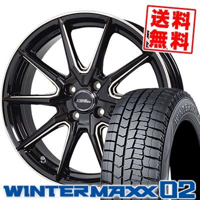 165/55R15 DUNLOP ダンロップ WINTER MAXX 02 WM02 ウインターマックス 02 CROSS SPEED PREMIUM RS10 クロススピード プレミアム RS10 スタッドレスタイヤホイール4本セット