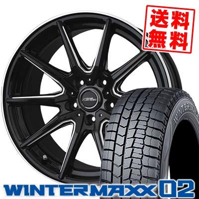 215/60R17 DUNLOP ダンロップ WINTER MAXX 02 WM02 ウインターマックス 02 CROSS SPEED PREMIUM RS10 クロススピード プレミアム RS10 スタッドレスタイヤホイール4本セット