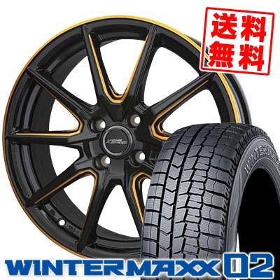 185/60R16 DUNLOP ダンロップ WINTER MAXX 02 WM02 ウインターマックス 02 CROSS SPEED PREMIUM RS10 クロススピード プレミアム RS10 スタッドレスタイヤホイール4本セット