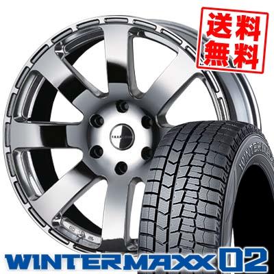 225/50R18 DUNLOP ダンロップ WINTER MAXX 02 WM02 ウインターマックス 02 Reverson R8 レベルソン R8 スタッドレスタイヤホイール4本セット
