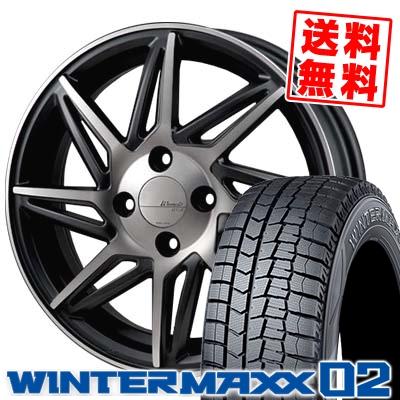 165/60R15 DUNLOP ダンロップ WINTER MAXX 02 WM02 ウインターマックス 02 MONZA Warwic REVOX モンツァ ワーウィック レヴォックス スタッドレスタイヤホイール4本セット