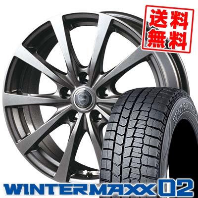 215/70R15 98Q DUNLOP ダンロップ WINTER MAXX 02 WM02 ウインターマックス 02 CLAIRE RG10 クレール RG10 スタッドレスタイヤホイール4本セット