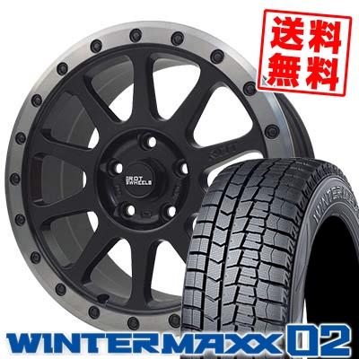 195/65R16 DUNLOP ダンロップ WINTER MAXX 02 WM02 ウインターマックス 02 THE ROT WHEELS RO401 THE ROTホイール RO401 スタッドレスタイヤホイール4本セット