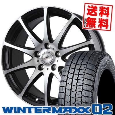 205/70R15 DUNLOP ダンロップ WINTER MAXX 02 WM02 ウインターマックス 02 BADX LOXARNY SPORT RS-10 バドックス ロクサーニ スポーツ RS-10 スタッドレスタイヤホイール4本セット