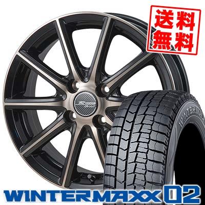 175/70R14 DUNLOP ダンロップ WINTER MAXX 02 WM02 ウインターマックス 02 MONZA R VERSION Sprint モンツァ Rヴァージョン スプリント スタッドレスタイヤホイール4本セット
