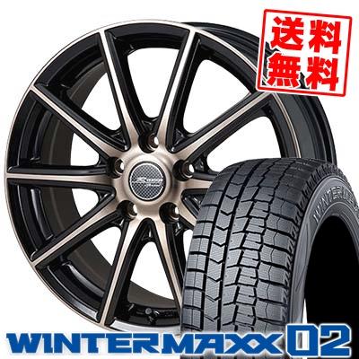 195/70R15 DUNLOP ダンロップ WINTER MAXX 02 WM02 ウインターマックス 02 MONZA R VERSION Sprint モンツァ Rヴァージョン スプリント スタッドレスタイヤホイール4本セット