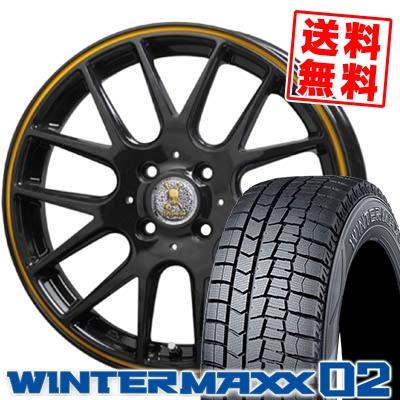 165/60R15 DUNLOP ダンロップ WINTER MAXX 02 WM02 ウインターマックス 02 Roen RT-M ロエン RT-M スタッドレスタイヤホイール4本セット