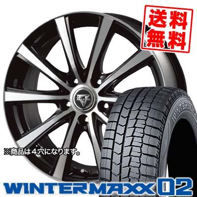 145/80R13 DUNLOP ダンロップ WINTER MAXX 02 WM02 ウインターマックス 02 Razee XV レイジー XV スタッドレスタイヤホイール4本セット