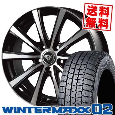 195/60R16 DUNLOP ダンロップ WINTER MAXX 02 WM02 ウインターマックス 02 Razee XV レイジー XV スタッドレスタイヤホイール4本セット