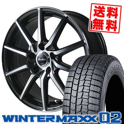 195/65R16 92Q DUNLOP ダンロップ WINTER MAXX 02 WM02 ウインターマックス 02 EuroSpeed S810 ユーロスピード S810 スタッドレスタイヤホイール4本セット