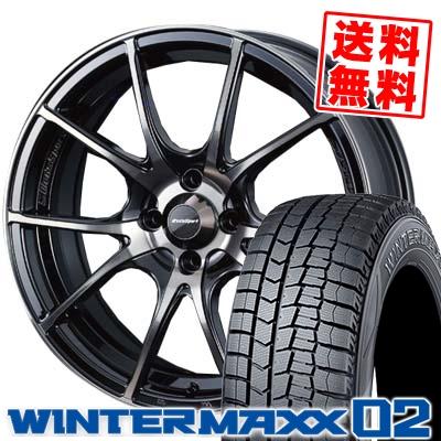 145/65R15 DUNLOP ダンロップ WINTER MAXX 02 WM02 ウインターマックス 02 wedsSport SA-10R ウエッズスポーツ SA10R スタッドレスタイヤホイール4本セット