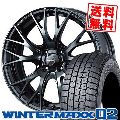 195/50R16 DUNLOP ダンロップ WINTER MAXX 02 WM02 ウインターマックス 02 WedsSport SA-20R ウェッズスポーツ SA20R スタッドレスタイヤホイール4本セット