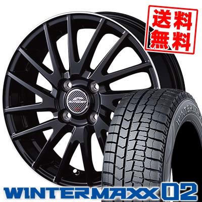 175/70R14 DUNLOP ダンロップ WINTER MAXX 02 WM02 ウインターマックス 02 SCHNEIDER Saber Rondo シュナイダー セイバーロンド スタッドレスタイヤホイール4本セット