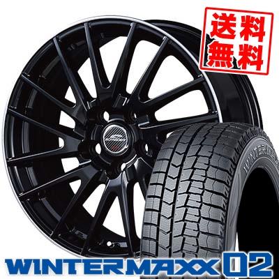205/65R16 DUNLOP ダンロップ WINTER MAXX 02 WM02 ウインターマックス 02 SCHNEIDER Saber Rondo シュナイダー セイバーロンド スタッドレスタイヤホイール4本セット