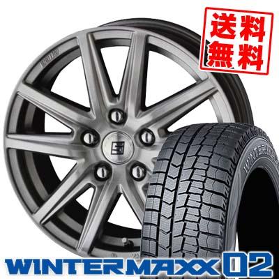 195/70R15 92Q DUNLOP ダンロップ WINTER MAXX 02 WM02 ウインターマックス 02 SEIN SS ザイン エスエス スタッドレスタイヤホイール4本セット