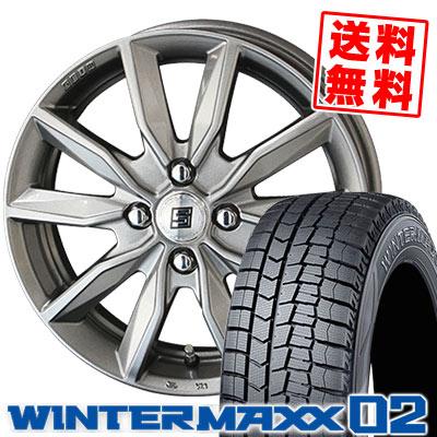 155/70R13 75Q DUNLOP ダンロップ WINTER MAXX 02 WM02 ウインターマックス 02 SEIN SV ザイン エスブイ スタッドレスタイヤホイール4本セット