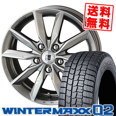 195/60R16 89Q DUNLOP ダンロップ WINTER MAXX 02 WM02 ウインターマックス 02 SEIN SV ザイン エスブイ スタッドレスタイヤホイール4本セット