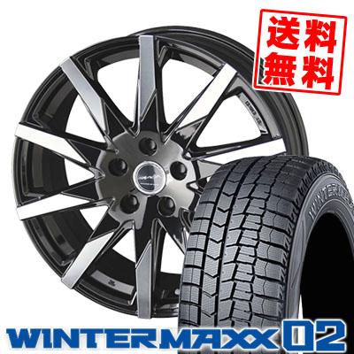 195/65R16 DUNLOP ダンロップ WINTER MAXX 02 WM02 ウインターマックス 02 SMACK SFIDA スマック スフィーダ スタッドレスタイヤホイール4本セット