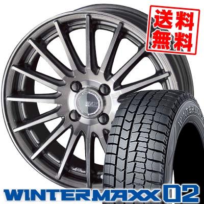165/65R13 DUNLOP ダンロップ WINTER MAXX 02 WM02 ウインターマックス 02 STEINER FORCED SERIES SF-X シュタイナー フォースドシリーズ SF-X スタッドレスタイヤホイール4本セット