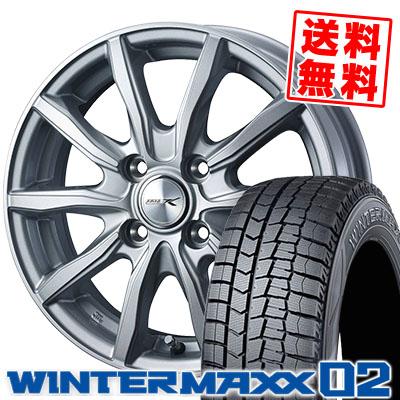 155/80R13 79Q DUNLOP ダンロップ WINTER MAXX 02 WM02 ウインターマックス 02 JOKER SHAKE ジョーカー シェイク スタッドレスタイヤホイール4本セット