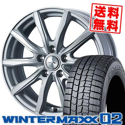 235/45R18 94Q DUNLOP ダンロップ WINTER MAXX 02 WM02 ウインターマックス 02 JOKER SHAKE ジョーカー シェイク スタッドレスタイヤホイール4本セット