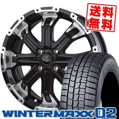 145/65R15 DUNLOP ダンロップ WINTER MAXX 02 WM02 ウインターマックス 02 BADX LOXARNY BATTLESHIP4 バドックス ロクサーニ バトルシップ4 スタッドレスタイヤホイール4本セット