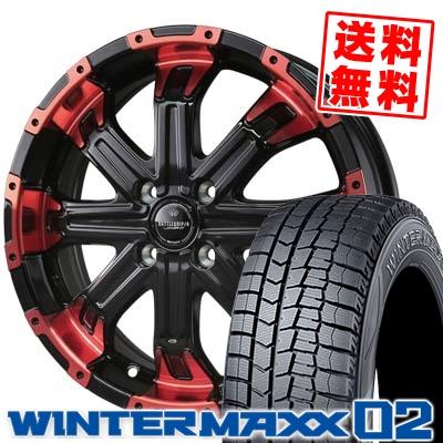 165/50R16 DUNLOP ダンロップ WINTER MAXX 02 WM02 ウインターマックス 02 BADX LOXARNY BATTLESHIP4 バドックス ロクサーニ バトルシップ4 スタッドレスタイヤホイール4本セット