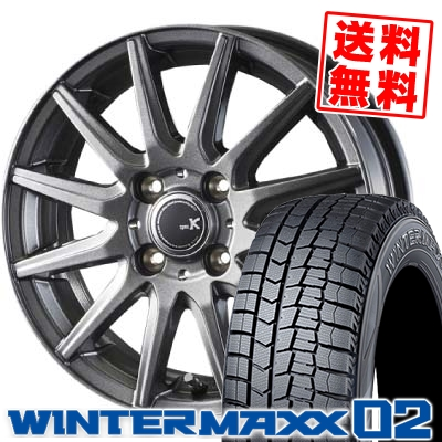 155/65R13 DUNLOP ダンロップ WINTER MAXX 02 WM02 ウインターマックス 02 spec K スペックK スタッドレスタイヤホイール4本セット