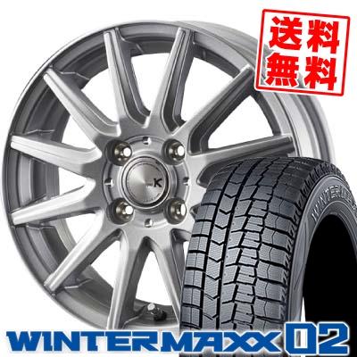 155/70R13 DUNLOP ダンロップ WINTER MAXX 02 WM02 ウインターマックス 02 spec K スペックK スタッドレスタイヤホイール4本セット