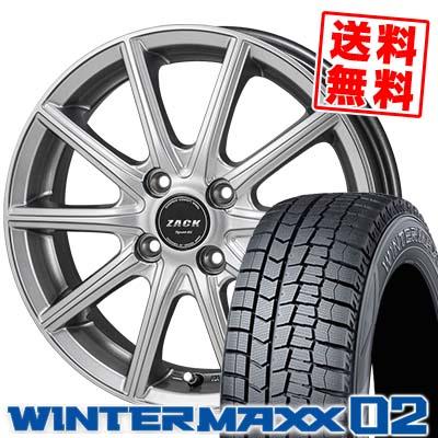 145/80R13 75Q DUNLOP ダンロップ WINTER MAXX 02 WM02 ウインターマックス 02 ZACK SPORT-01 ザック シュポルト01 スタッドレスタイヤホイール4本セット