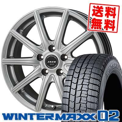 215/55R16 93Q DUNLOP ダンロップ WINTER MAXX 02 WM02 ウインターマックス 02 ZACK SPORT-01 ザック シュポルト01 スタッドレスタイヤホイール4本セット
