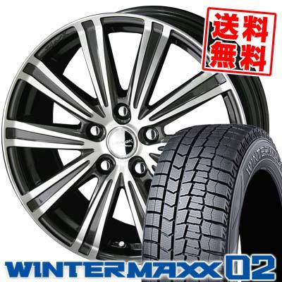 195/60R16 DUNLOP ダンロップ WINTER MAXX 02 WM02 ウインターマックス 02 SMACK SPARROW スマック スパロー スタッドレスタイヤホイール4本セット