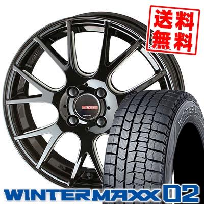 165/60R15 DUNLOP ダンロップ WINTER MAXX 02 WM02 ウインターマックス 02 CIRCLAR RM-7 サーキュラー RM-7 スタッドレスタイヤホイール4本セット