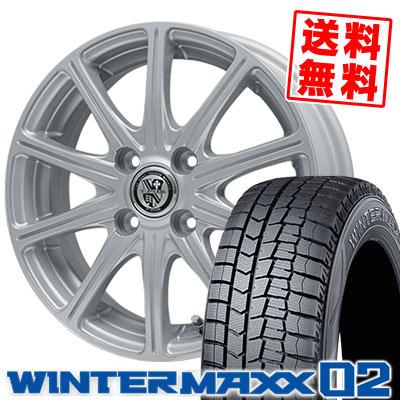 145/65R15 72Q DUNLOP ダンロップ WINTER MAXX 02 WM02 ウインターマックス 02 TRG-SS10 TRG SS10 スタッドレスタイヤホイール4本セット