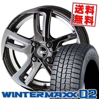155/55R14 DUNLOP ダンロップ WINTER MAXX 02 WM02 ウインターマックス 02 STEINER SF-C シュタイナー SF-C スタッドレスタイヤホイール4本セット