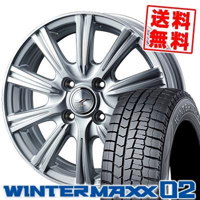 185/55R16 83Q DUNLOP ダンロップ WINTER MAXX 02 WM02 ウインターマックス 02 JOKER STIR ジョーカー ステア スタッドレスタイヤホイール4本セット
